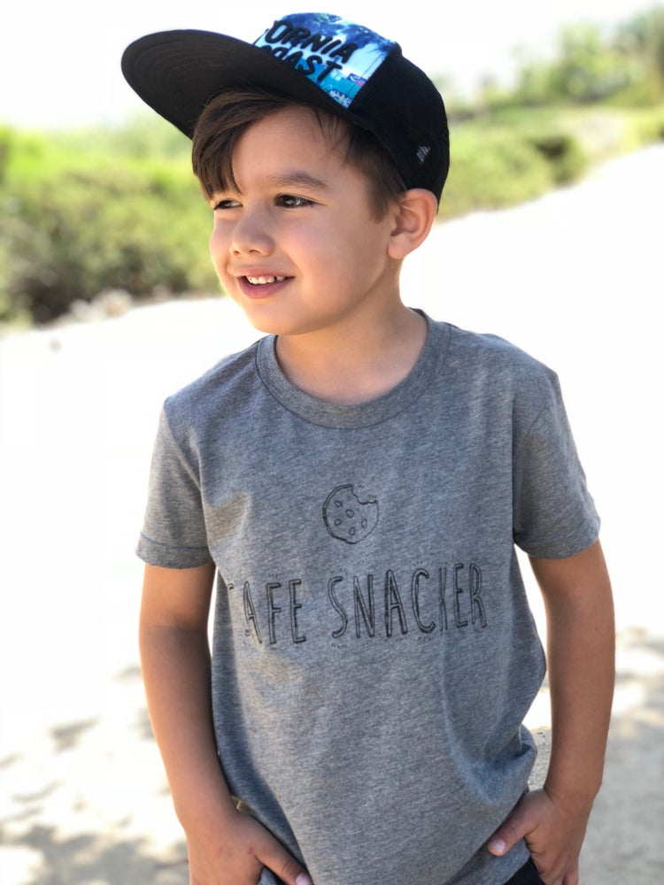 Image of Grey Safe Snacker Tee