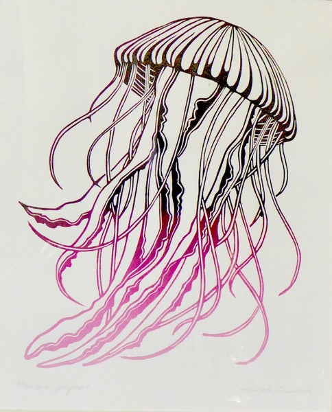 Image of Jellyfish by Laura Wilcox.  63/100.