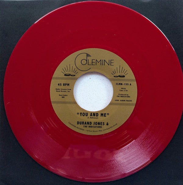 "Durand Jones & The Indications - You And Me b/w Put A Smile On Your Face (7"" red vinyl)"