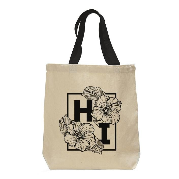"Image of ""HIbiscus"" Canvas Tote Bag"