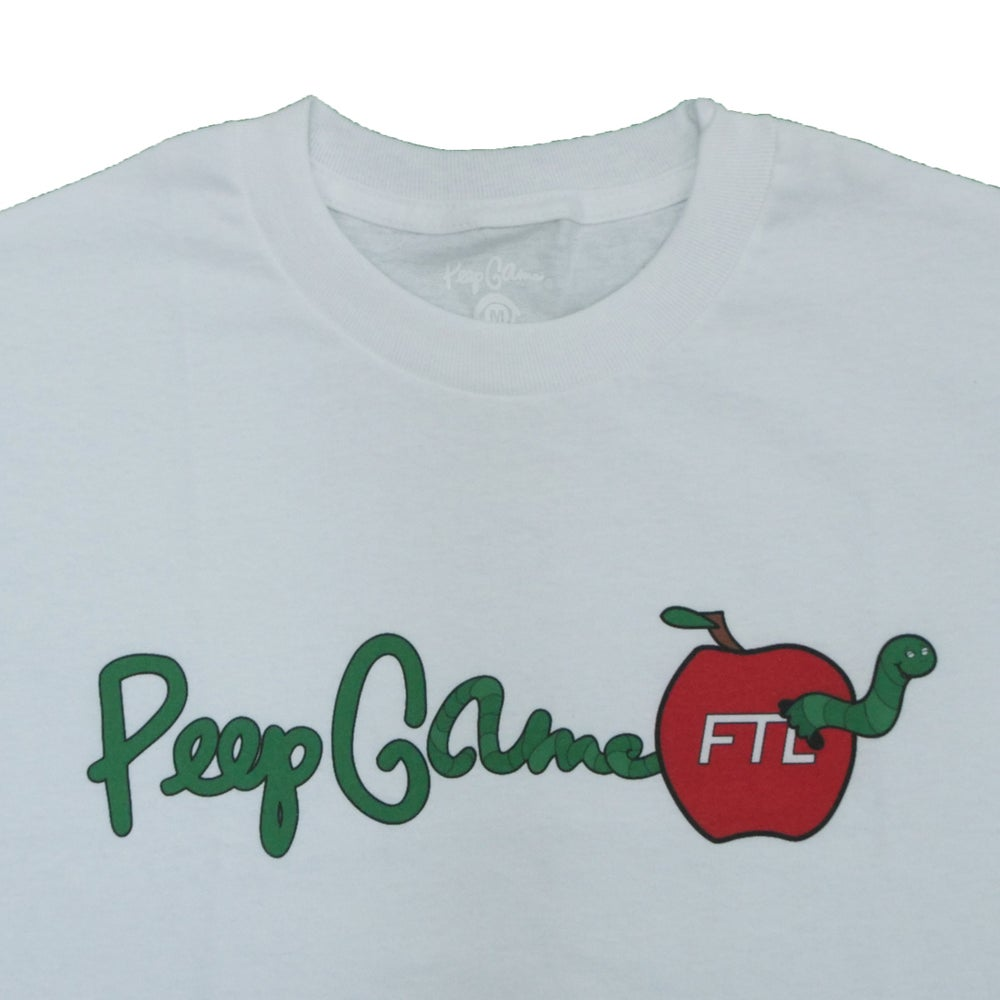 Image of FTL X Peep Game Worm Tee (White)