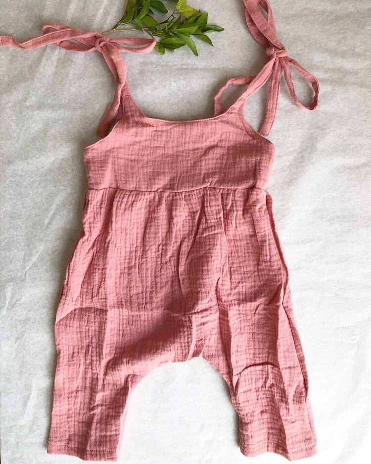 Image of Daisy playsuit blush pink