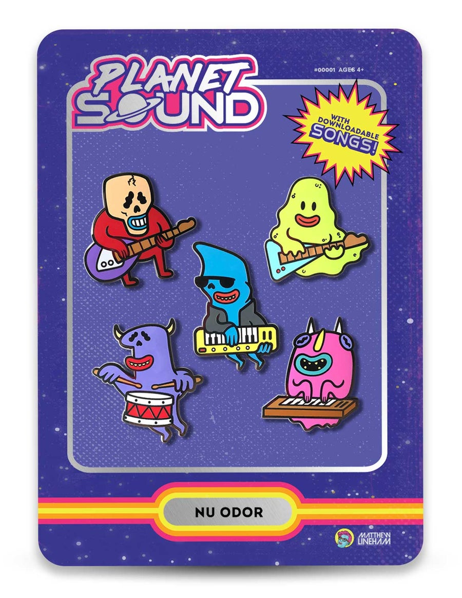 Image of Planet Sound – Nu Odor Enamel Pin Set