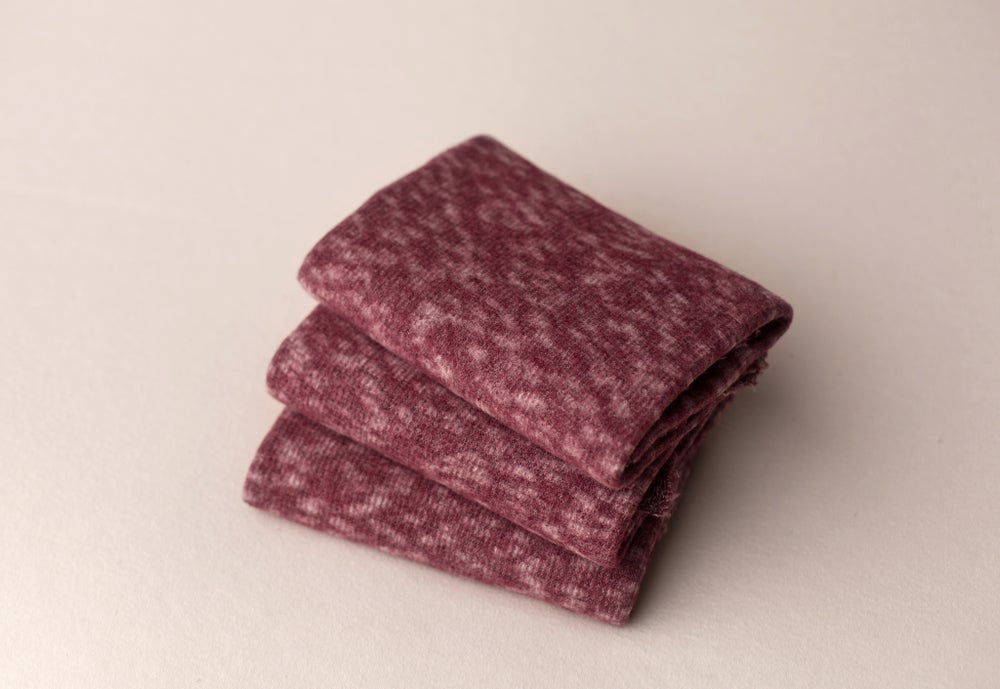 Image of Speckled Cozy Wrap - burgundy