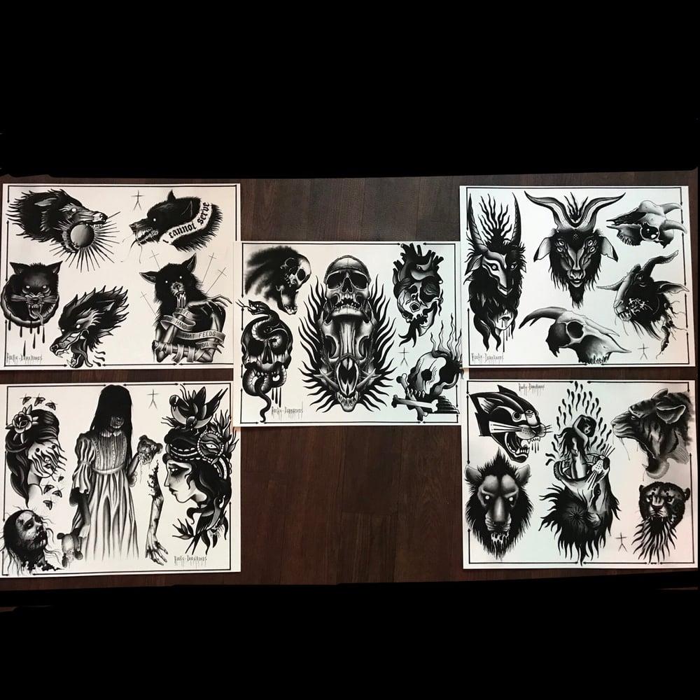 Image of Tattoo flash split sheets