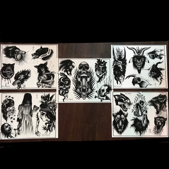 Image of Tattoo flash split sheets