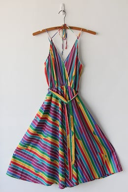 Image of SOLD Rainbows And Sunshine Vintage Sundress