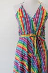 Image of SOLD Rainbows And Sunshine Vintage Sundress