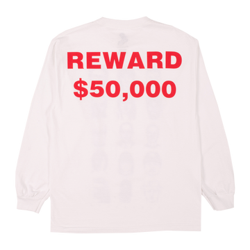 Image of PLEASURES - REWARD LONGSLEEVE SHIRT (WHITE)
