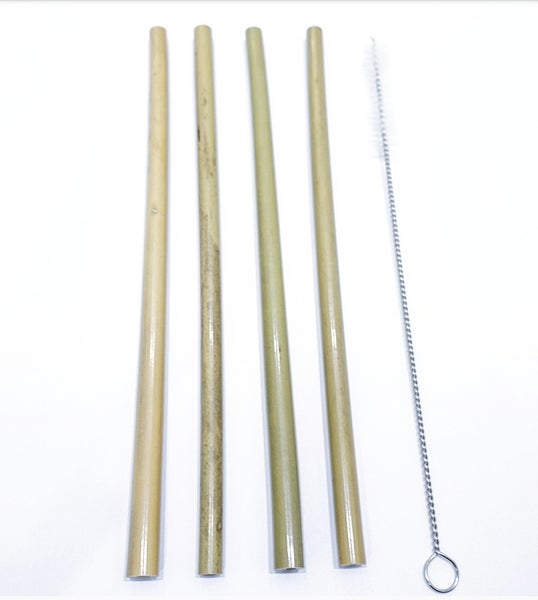 Image of Bamboo straws - 2, 4 or 6 pack