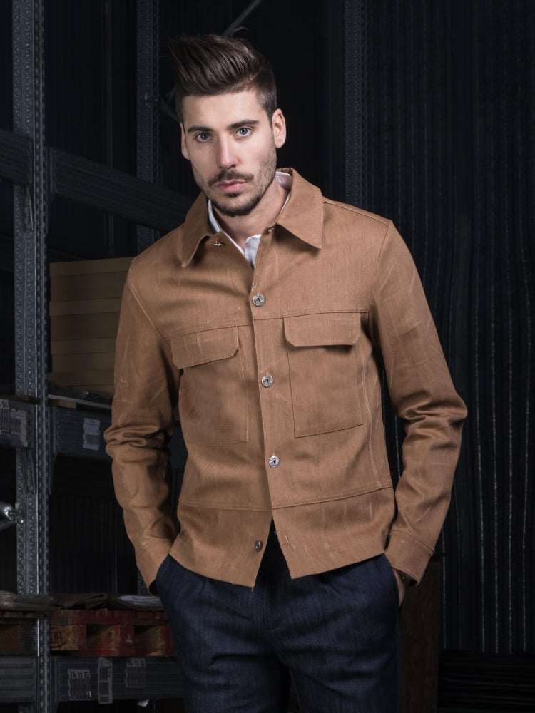 Image of DENIM BROWN JACKET R89M
