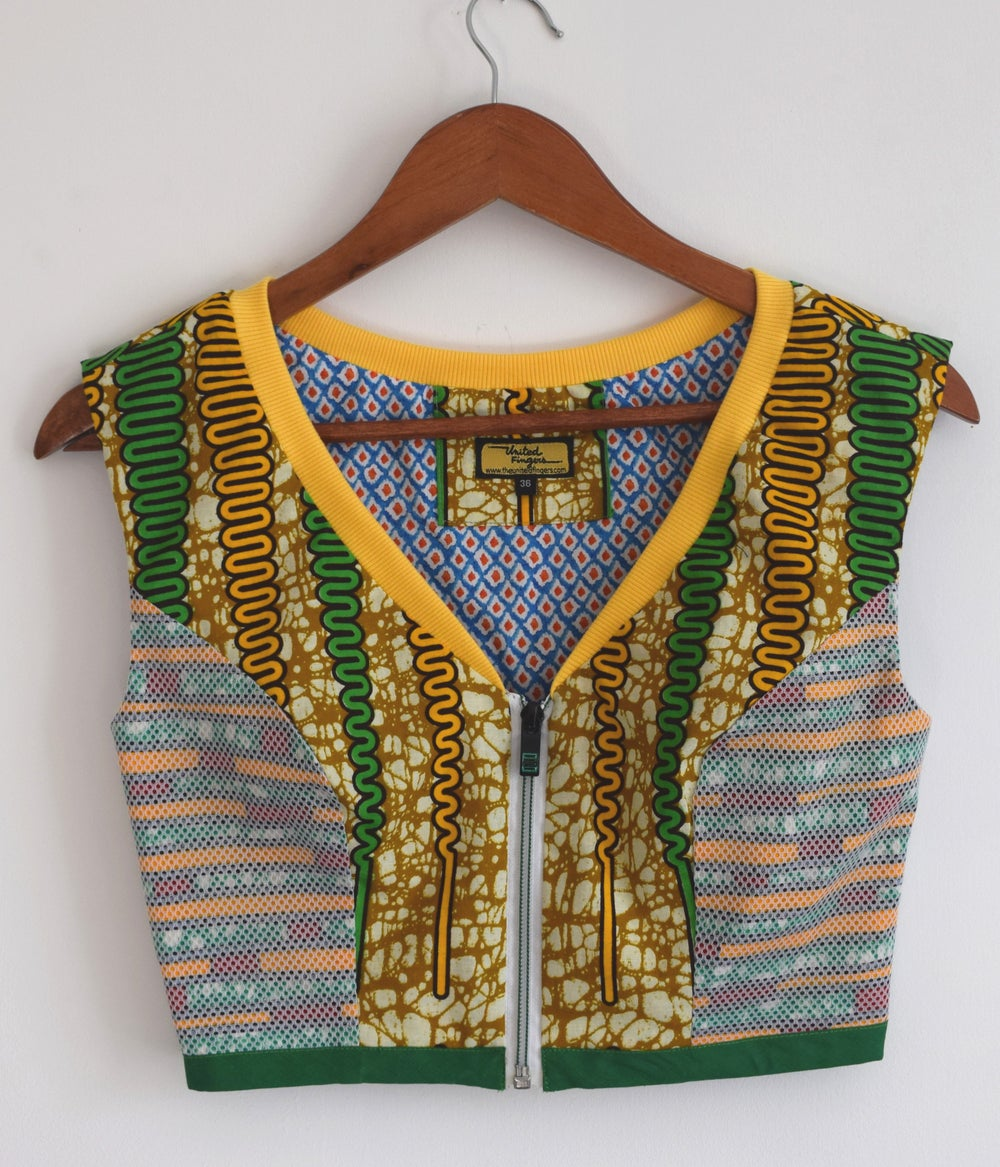 Image of Zipper Crop Top
