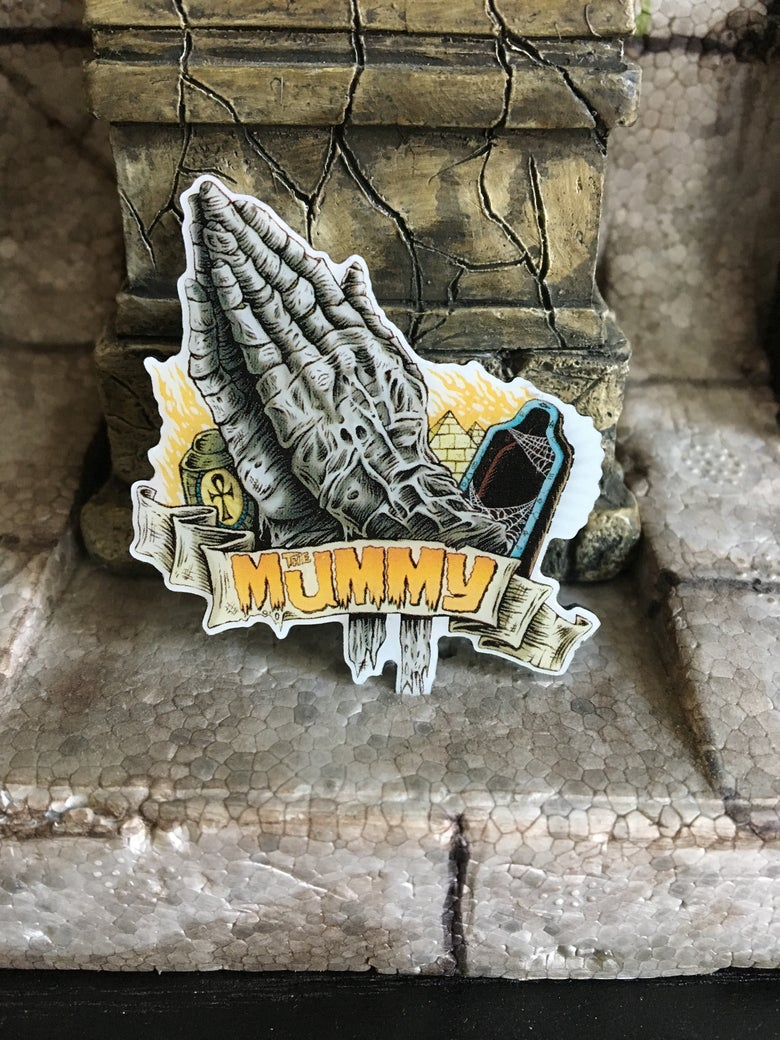 Image of Pray for the Mummy pin