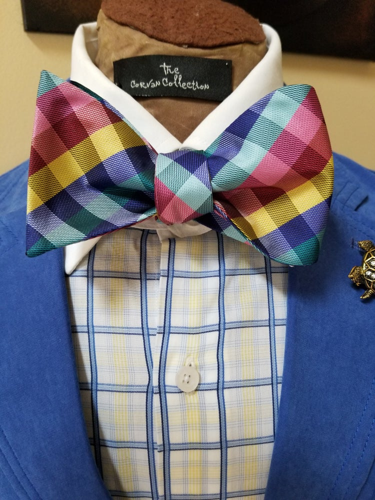 Image of GLORY PLAID BOWTIE
