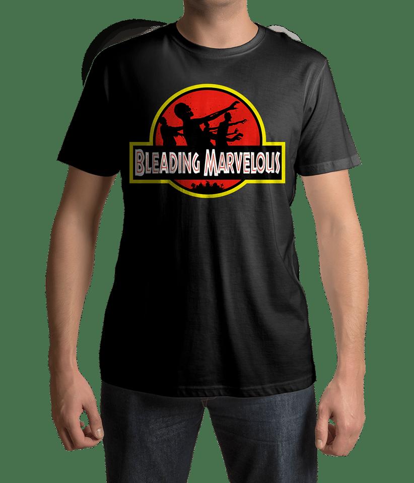 Image of Bleading Marvelous Jurassic Park inspired logo T-Shirt.