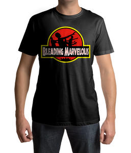 Image of Bleading Marvelous Jurassic Park inspired logo T-Shirt.