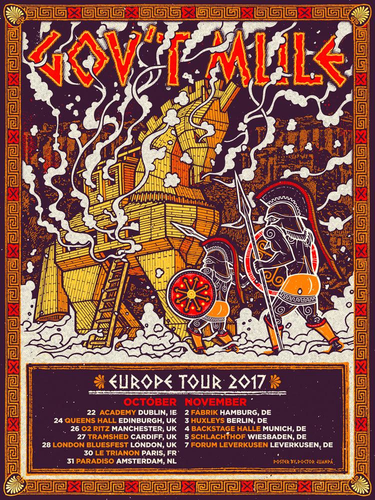 Image of Gov´t Mule Europe Tour 2017 Poster (Regular)
