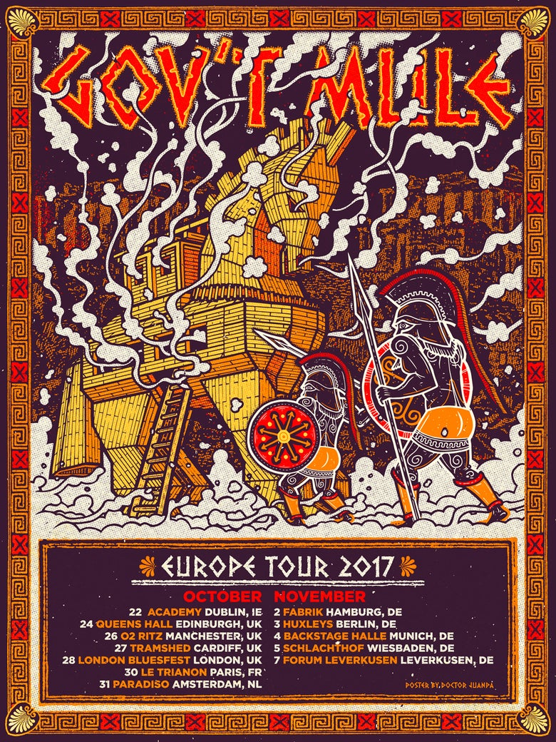Image of Gov´t Mule Europe Tour 2017 Poster (Regular)