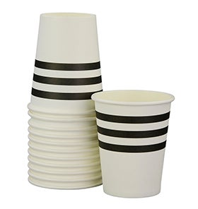 Image of Black French Stripe Cups