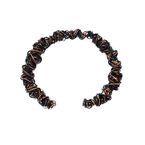Image of Garnet and copper bracelet