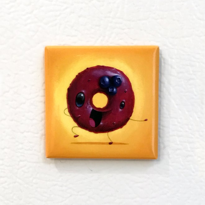 Image of Blueberry Donut Magnet