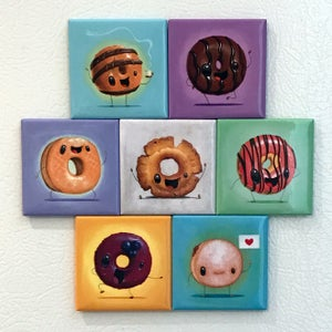 Image of Blueberry Donut Magnet