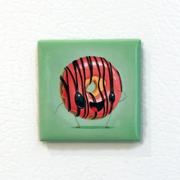 Image of Cafe Dulce Strawberry Jam Donut Magnet