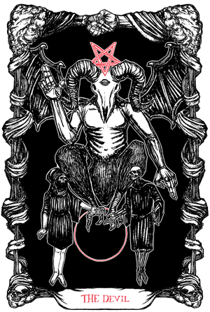 "Image of The Tarot of The Devil, 11""x17"""