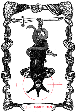 "Image of The Tarot of The Hanged Man, 11""x17"""