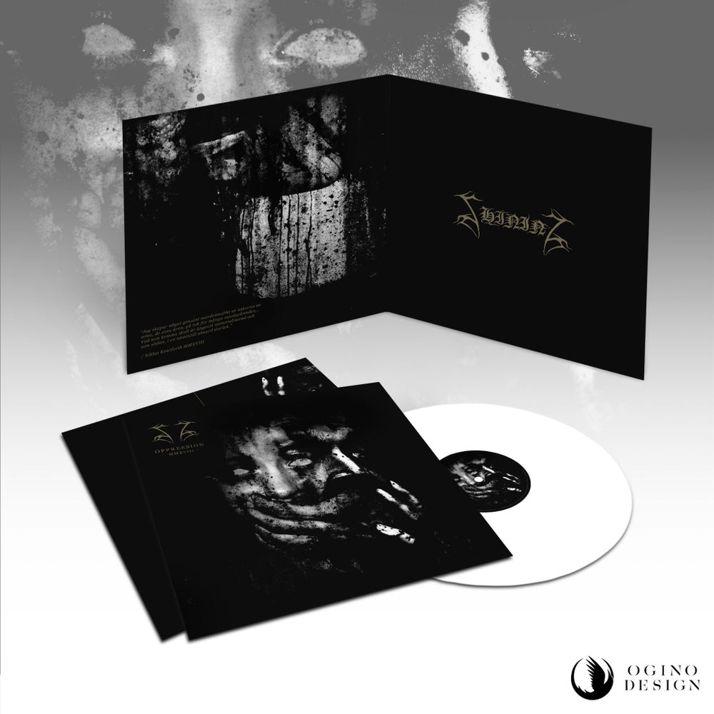 "Image of Shining ""Oppression"" Gatefold LP White plus poster - ALSO AVAILABLE SIGNED"