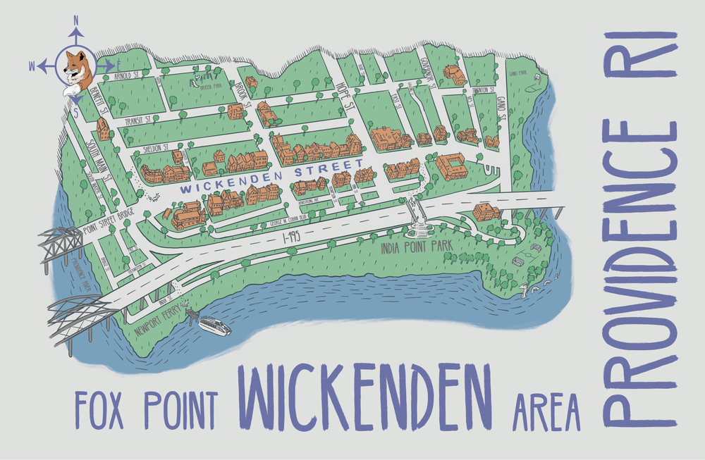 Image of Wickenden Area Map 17x11