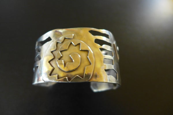 Image of Sterling Cuff Bracelet by Barbara Twohil
