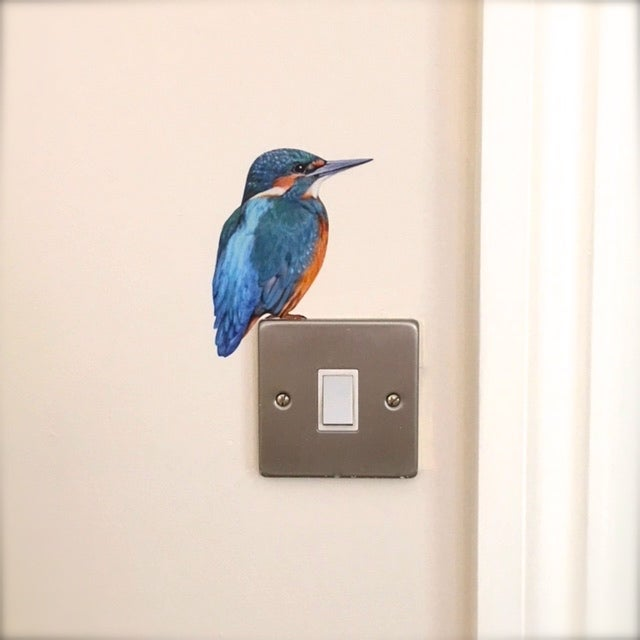 Image of Flash the Kingfisher ~ Wall sticker decal