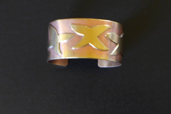 Image of Brass and Copper Cuff by Barbara Twohil