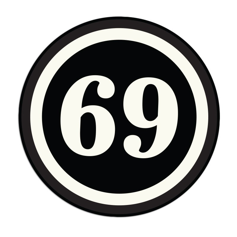Image of 69 Sticker
