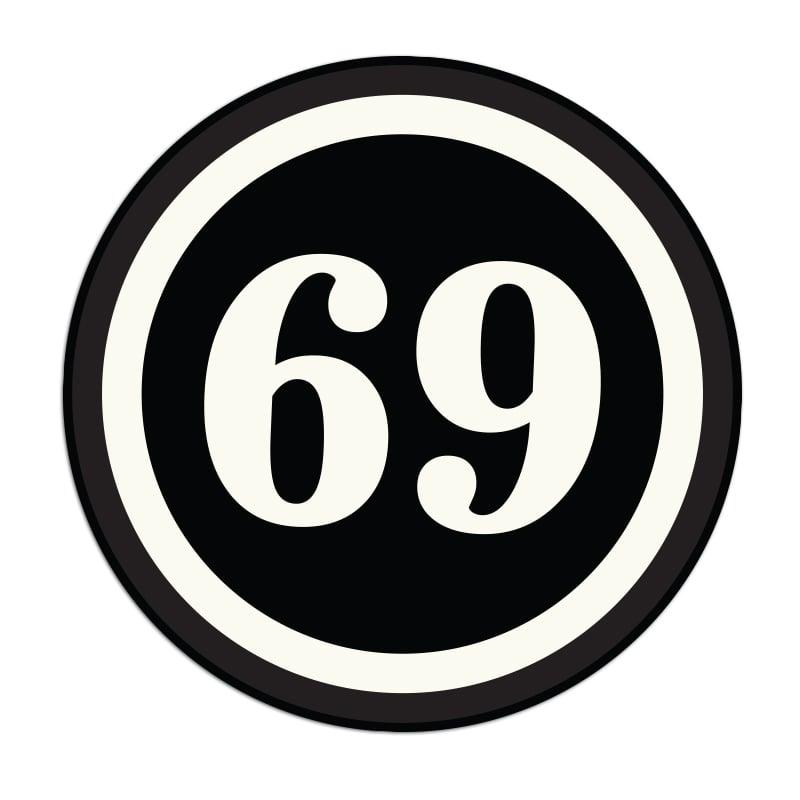 Image of 69 Sticker