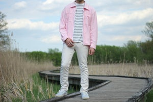 Image of Pink Reverse Terry Overshirt