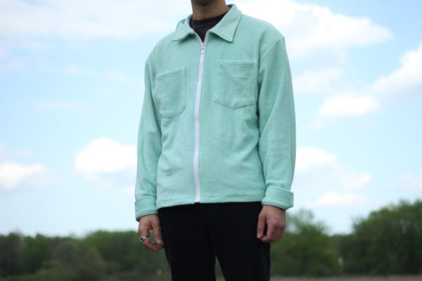 Image of Mint Reverse Terry Overshirt