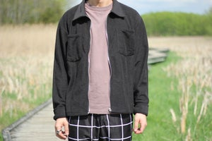 Image of Black Reverse Terry Overshirt