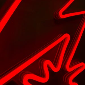 Image of Red LED Neon Rope Acrylic Sign