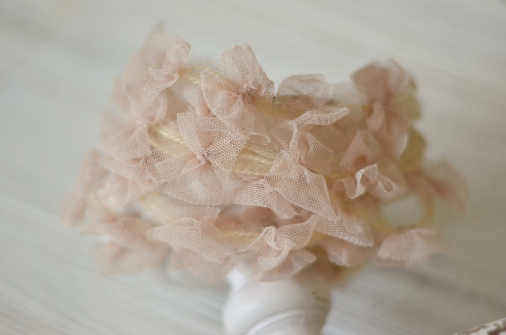 Image of Nude tulle bows headband