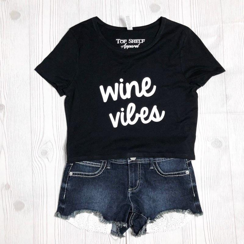 Image of Wine Vibes crop tee