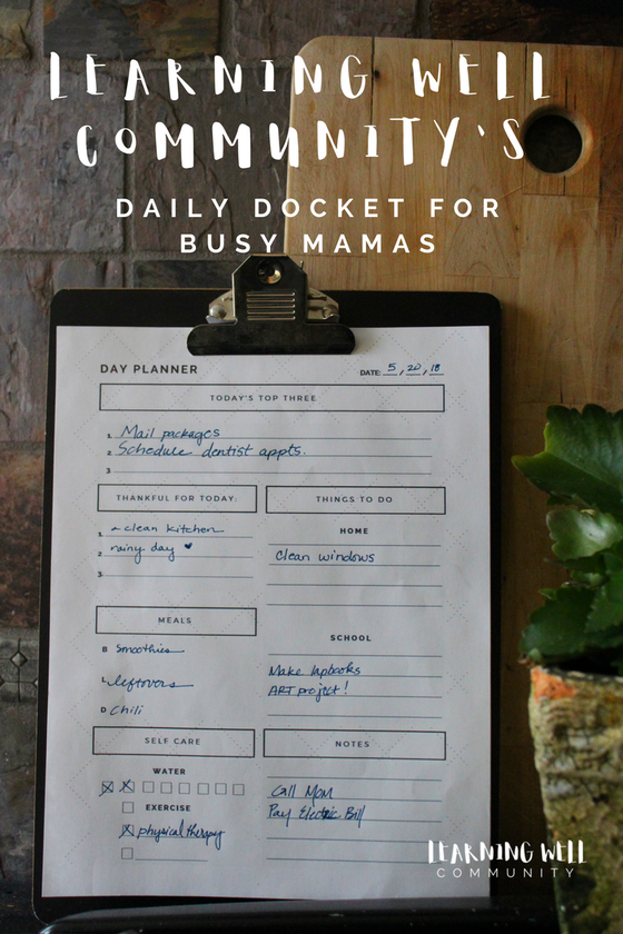 Image of LEARNING WELL COMMUNITY'S DAILY DOCKET