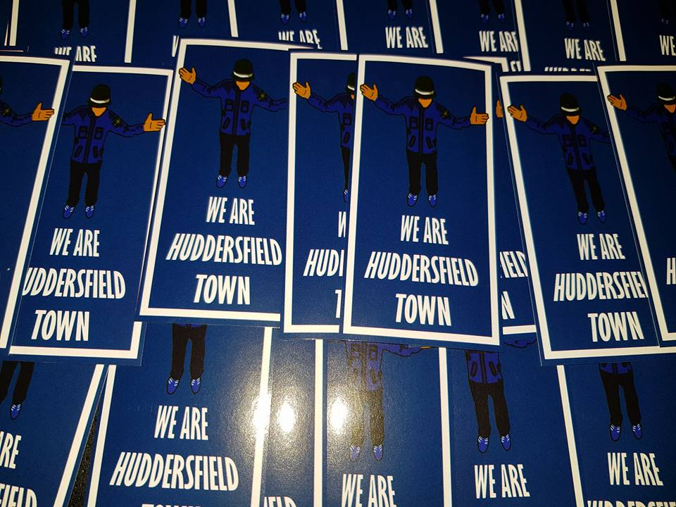 We Are Huddersfield Town Football Casuals New Football Stickers 10x5cm 25 pack.