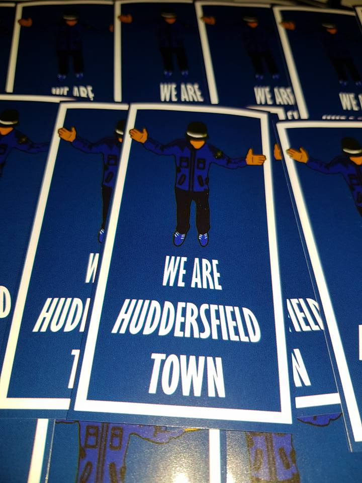 Image of We Are Huddersfield Town Football Casuals New Football Stickers 10x5cm 25 pack.