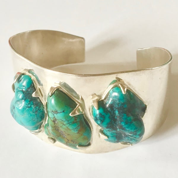 Image of Silver and Turquoise Cuff by Barbara Twohil