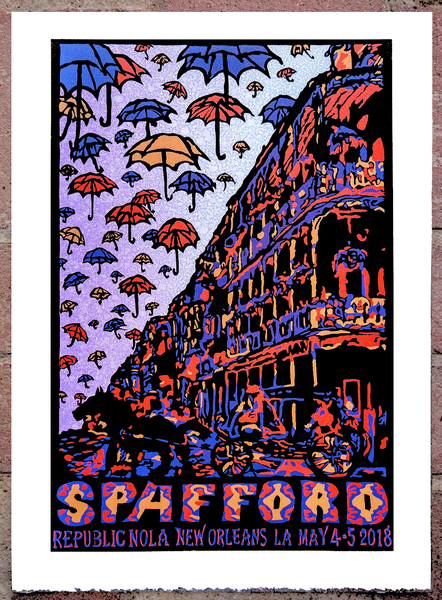 Image of Spafford Republic NOLA Show Print May 4-5 2018