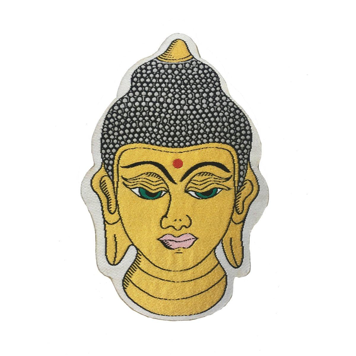 Golden Buddha Iron-on Patch