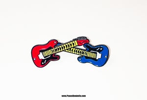 Image of ' DOUBLE AXE ' ROCK N ROLLA pins