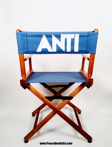 Image of ' ANTI ' HONEY OAK DIRECTOR CHAIR
